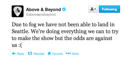 Above & Beyond Resolution tweet