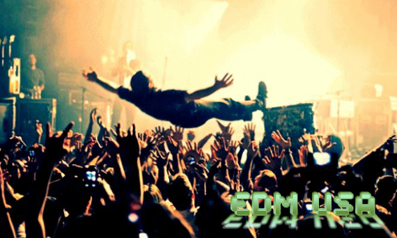 EDM stage diving